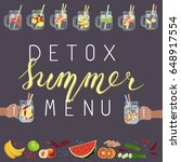 vector illustration of detox... | Shutterstock .eps vector #648917554