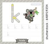 letter k lowercase tracing... | Shutterstock .eps vector #648919354