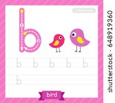 letter b lowercase tracing... | Shutterstock .eps vector #648919360