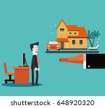 young business man dreaming... | Shutterstock .eps vector #648920320