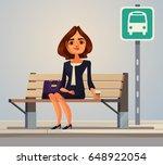 business woman office worker... | Shutterstock .eps vector #648922054