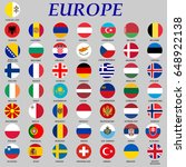 set of round flags of europe... | Shutterstock .eps vector #648922138