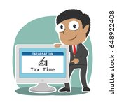 african businessman showing tax ... | Shutterstock .eps vector #648922408