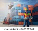 women woker control loading... | Shutterstock . vector #648922744