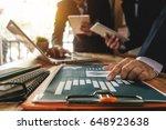 business team meeting. photo... | Shutterstock . vector #648923638