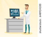 doctor in a medical gown... | Shutterstock .eps vector #648924100