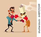 angry man fights with cigarette ... | Shutterstock .eps vector #648925249