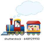 children riding on train...   Shutterstock .eps vector #648929950