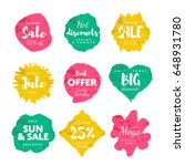 special offer sale tag discount ... | Shutterstock .eps vector #648931780