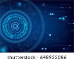 futuristic and abstract blue...   Shutterstock .eps vector #648932086