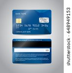 realistic detailed credit cards ... | Shutterstock .eps vector #648949153