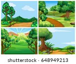 mountain scenes with tracks and ... | Shutterstock .eps vector #648949213