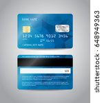 realistic detailed credit cards ... | Shutterstock .eps vector #648949363