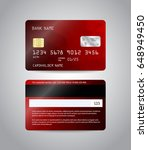 realistic detailed credit cards ... | Shutterstock .eps vector #648949450