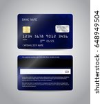 realistic detailed credit cards ... | Shutterstock .eps vector #648949504