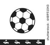 classic soccer ball icon ... | Shutterstock .eps vector #648951043