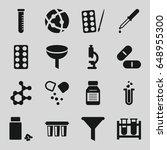 chemistry icons set. set of 16... | Shutterstock .eps vector #648955300