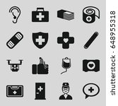 aid icons set. set of 16 aid...   Shutterstock .eps vector #648955318