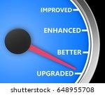 upgrade meter concept  3d... | Shutterstock . vector #648955708
