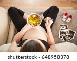 pregnancy and a healthy diet....   Shutterstock . vector #648958378