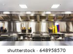 modern clean equipped kitchen... | Shutterstock . vector #648958570