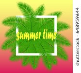 summer background with palm...   Shutterstock .eps vector #648959644