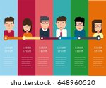 infographic timeline with... | Shutterstock .eps vector #648960520
