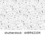 food product outline set on... | Shutterstock .eps vector #648962104