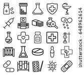 pharmacy icons set. set of 25...   Shutterstock .eps vector #648962614