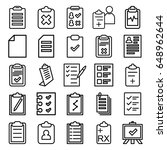 clipboard icons set. set of 25... | Shutterstock .eps vector #648962644