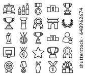victory icons set. set of 25... | Shutterstock .eps vector #648962674