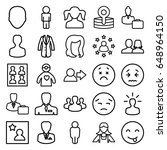 avatar icons set. set of 25... | Shutterstock .eps vector #648964150