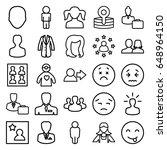 avatar icons set. set of 25...   Shutterstock .eps vector #648964150
