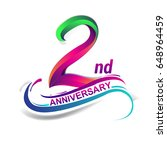 2nd anniversary celebration... | Shutterstock .eps vector #648964459