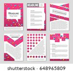 abstract vector layout... | Shutterstock .eps vector #648965809