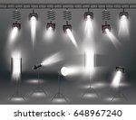 spotlight set with different... | Shutterstock . vector #648967240