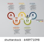 5 steps presentation template.... | Shutterstock .eps vector #648971098