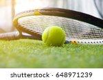 tennis ball and racket    Shutterstock . vector #648971239