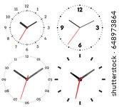 a set of four mechanical clocks.... | Shutterstock .eps vector #648973864