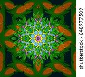 abstract flower background.... | Shutterstock . vector #648977509