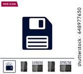 floppy disk icon   Shutterstock .eps vector #648977650