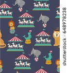 circus seamless pattern with... | Shutterstock .eps vector #648978238