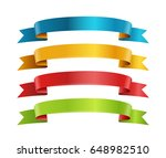 different color ribbons vector... | Shutterstock .eps vector #648982510