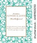 romantic invitation. wedding ... | Shutterstock . vector #648983050