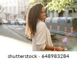 beautiful african girl posing... | Shutterstock . vector #648983284