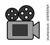 film video camera icon | Shutterstock .eps vector #648985969