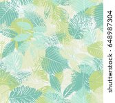 seamless pattern with forest... | Shutterstock .eps vector #648987304