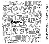 business doodles sketch vector... | Shutterstock .eps vector #648989200