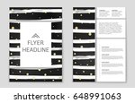 abstract vector layout... | Shutterstock .eps vector #648991063