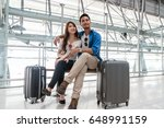 asian couple traveler using... | Shutterstock . vector #648991159